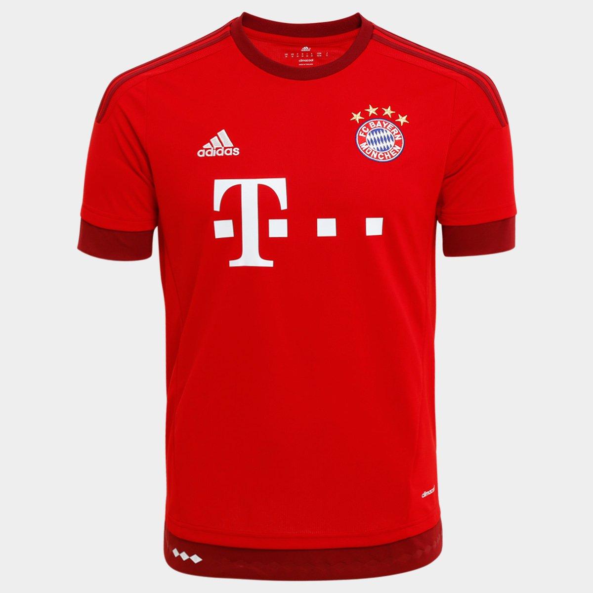 Camisa Bayern de Munique Home 15 16 s nº Torcedor Adidas Masculina - Compre  Agora  69018583d9fc0