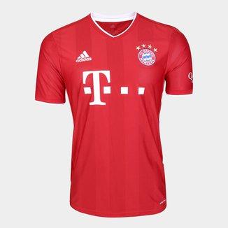 Camisa Bayern de Munique Home 20/21 s/nº Torcedor Adidas Masculina