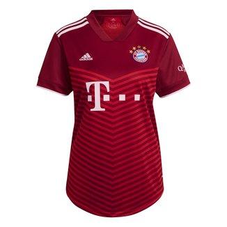 Camisa Bayern de Munique Home 21/22 s/n° Torcedor Adidas Feminina