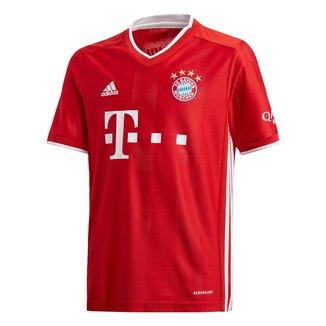 Camisa Bayern de Munique Juvenil Home 20/21 s/nº Torcedor Adidas