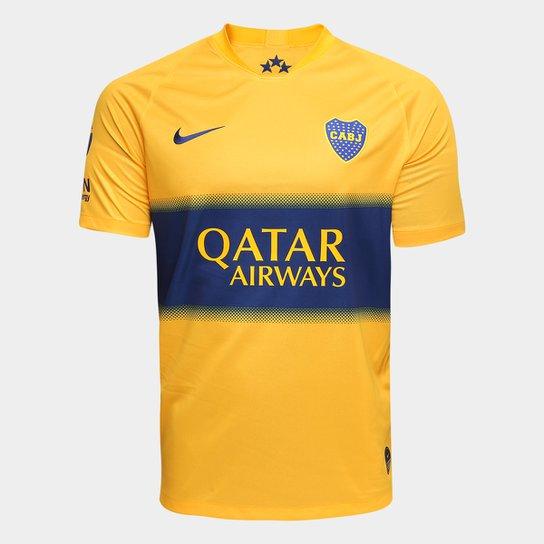 Menor preço em Camisa Boca Juniors Away 19/20 s/nº Torcedor Nike Masculina - Amarelo e Azul