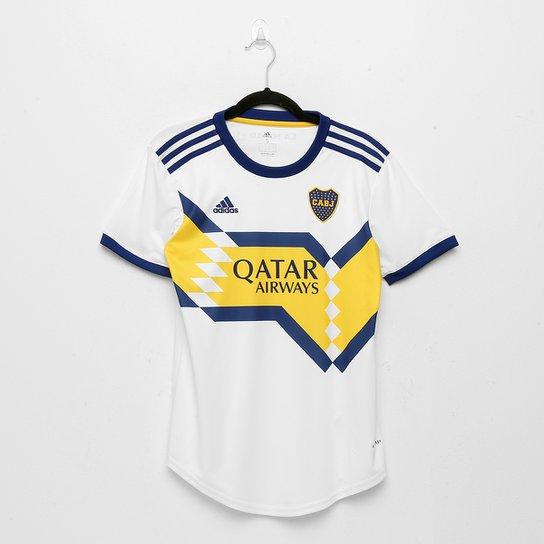 Camisa Boca Juniors Away 20/21 s/n° Torcedor Adidas Feminina - Branco+Azul