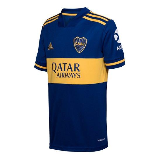 Camisa Boca Juniors Infantil Home 20/21 s/n° Torcedor Adidas - Azul+amarelo