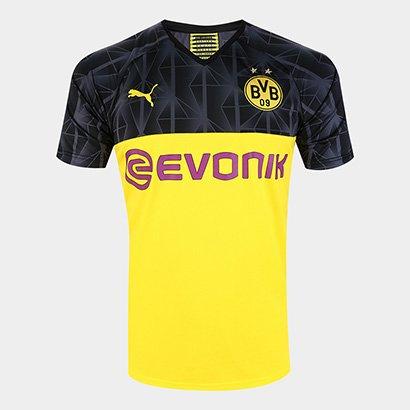 Camisa Borussia Dortmund Cup 19/20 s/nº Torcedor Puma Masculina