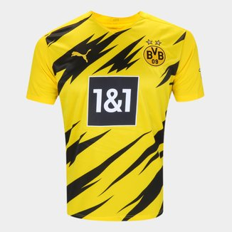 Camisa Borussia Dortmund Home 20/21 s/n° Torcedor Puma Masculina