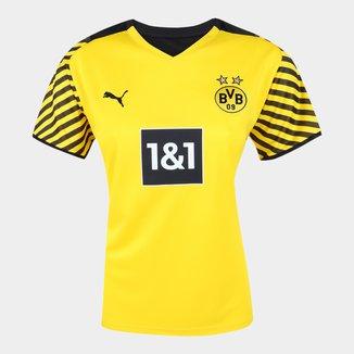 Camisa Borussia Dortmund Home 21/22 s/n° Torcedor Puma Feminina