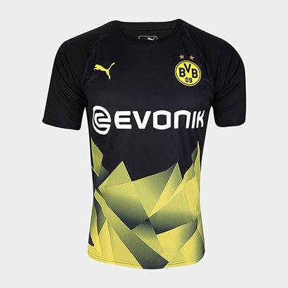 Camisa Borussia Dortmund Pre Jogo 19/20 Puma Masculina