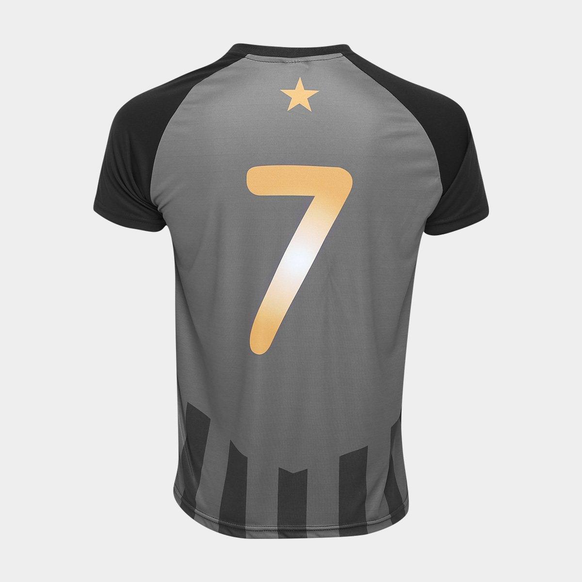 ... Camisa Botafogo Estrela Gold nº 7 - Edição Limitada Masculina ... db843b5d6cd03