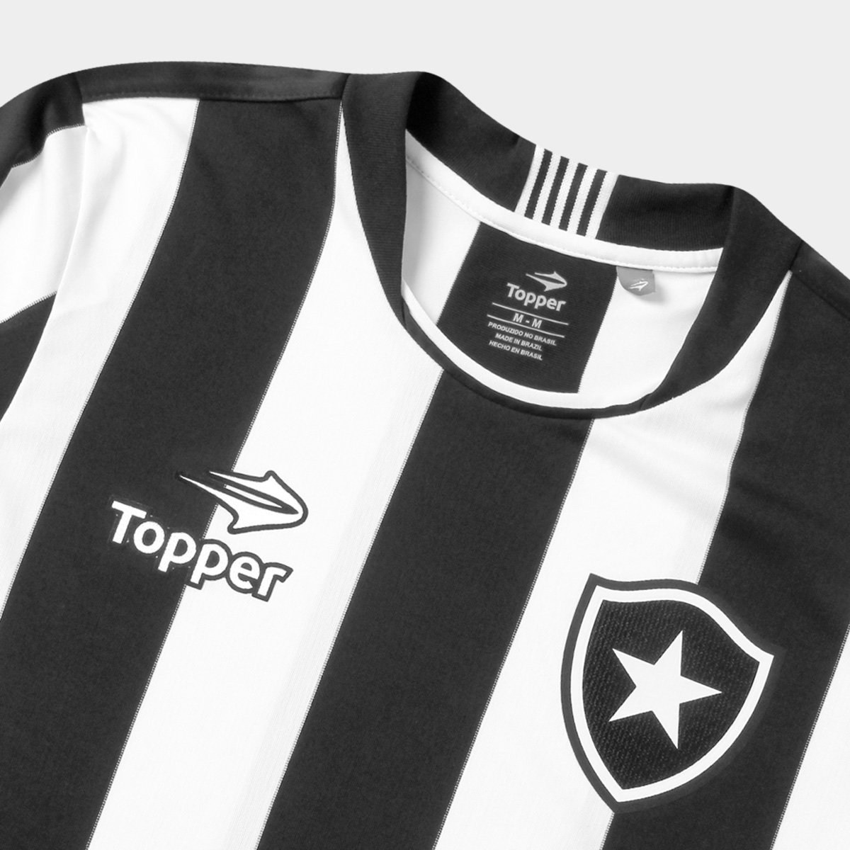 Camisa Botafogo I 2016 s nº Torcedor Topper Masculina - Preto e ... 67fe1c0cb19f1