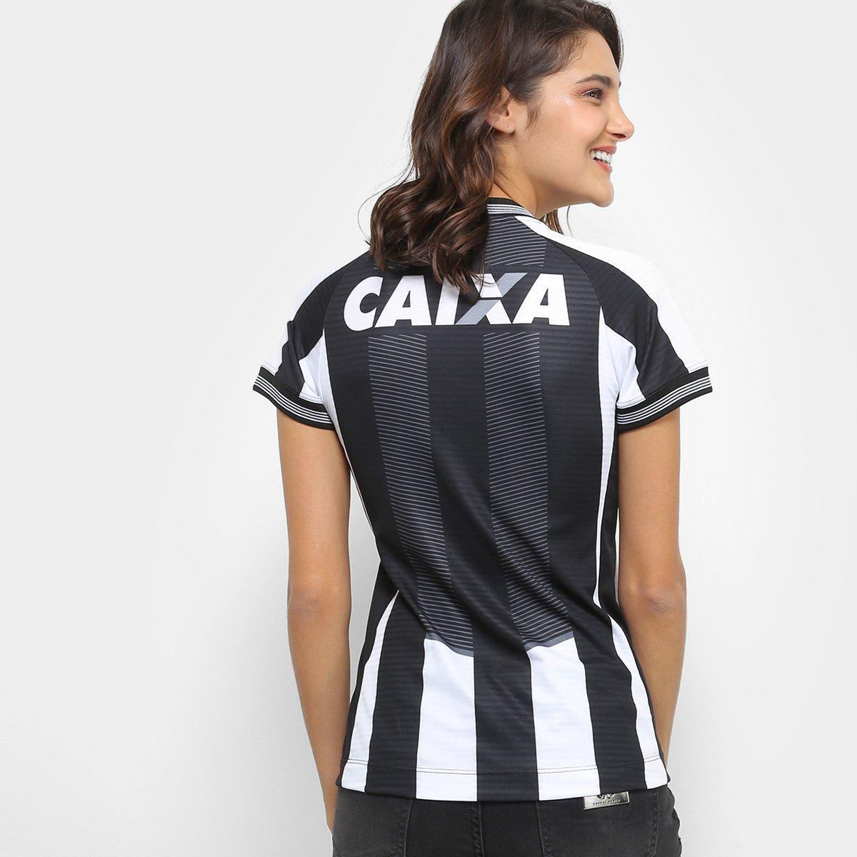 71b036a11f Camisa Botafogo I 2018 s n° Torcedor Topper Feminina - Preto e ...