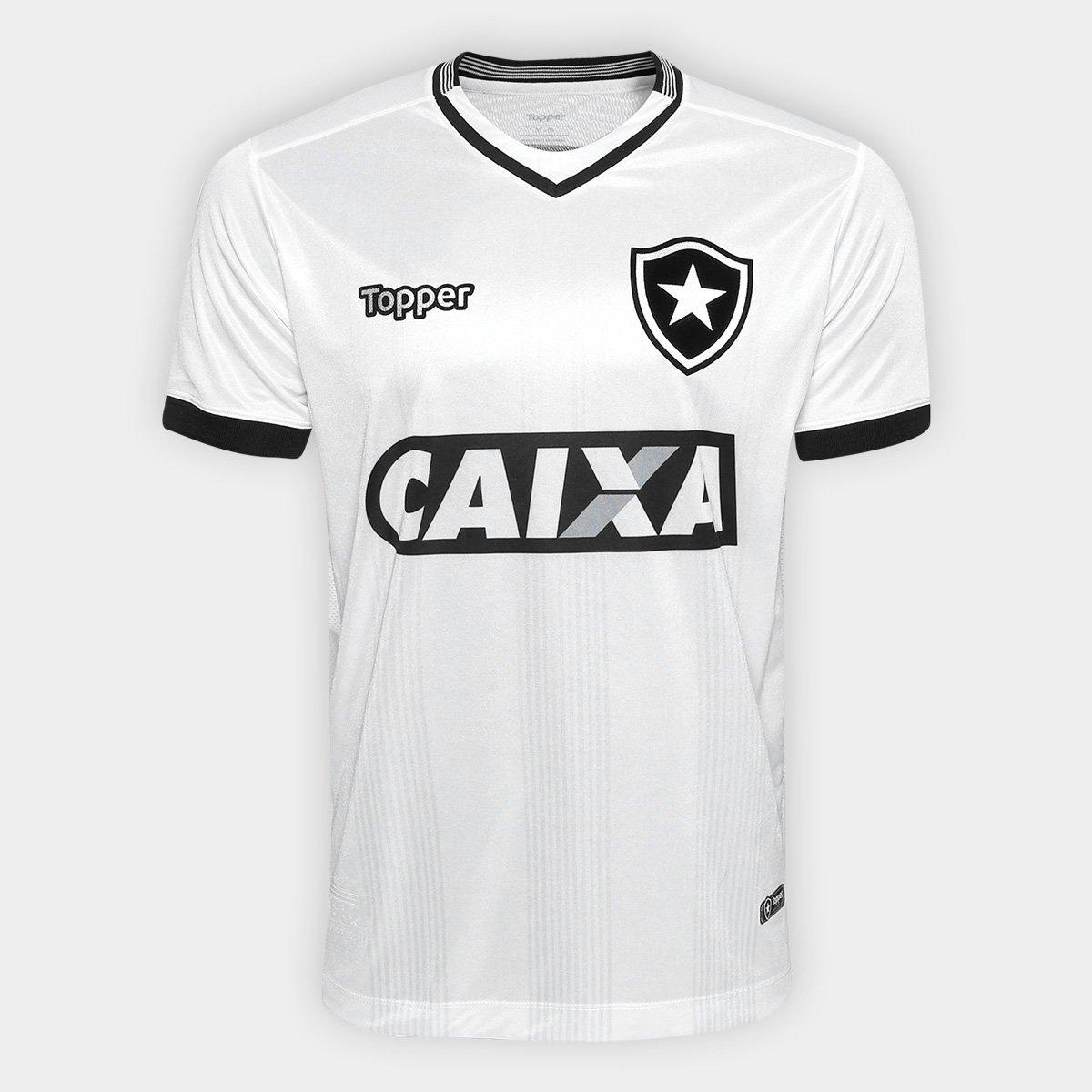 Camisa Botafogo III 2018 s n° Torcedor Topper Masculina - Branco - Compre  Agora  24651cffbf65b