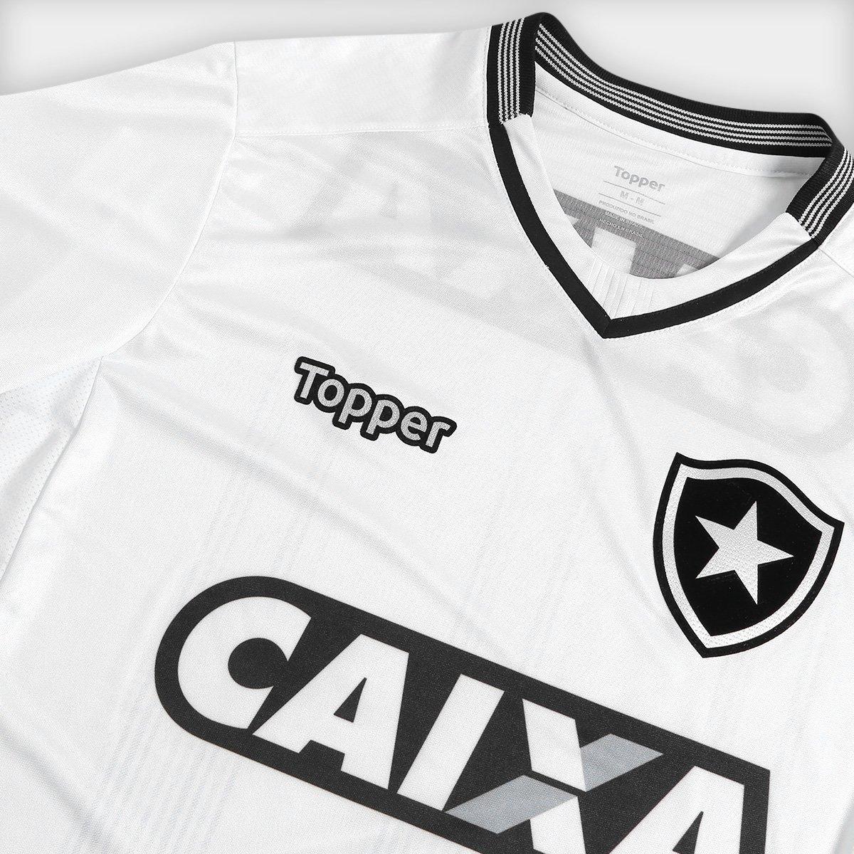 4ab24f606c Camisa Botafogo III 2018 s n° Torcedor Topper Masculina - Branco ...