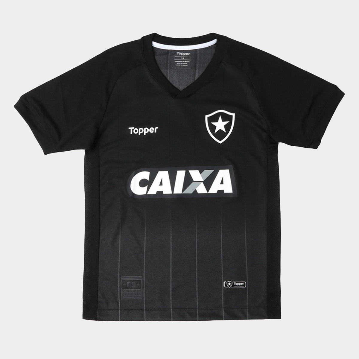 1c9ff1da3a Infantil Camisa Preto 2018 Torcedor n° Topper II s Botafogo Chumbo e  Hxx5gPZnC ...