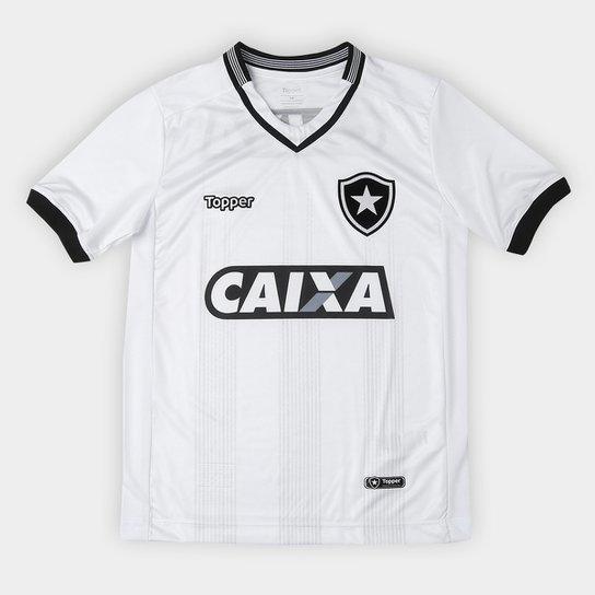 Camisa Botafogo Infantil III 2018 s/n° Torcedor Topper - Branco