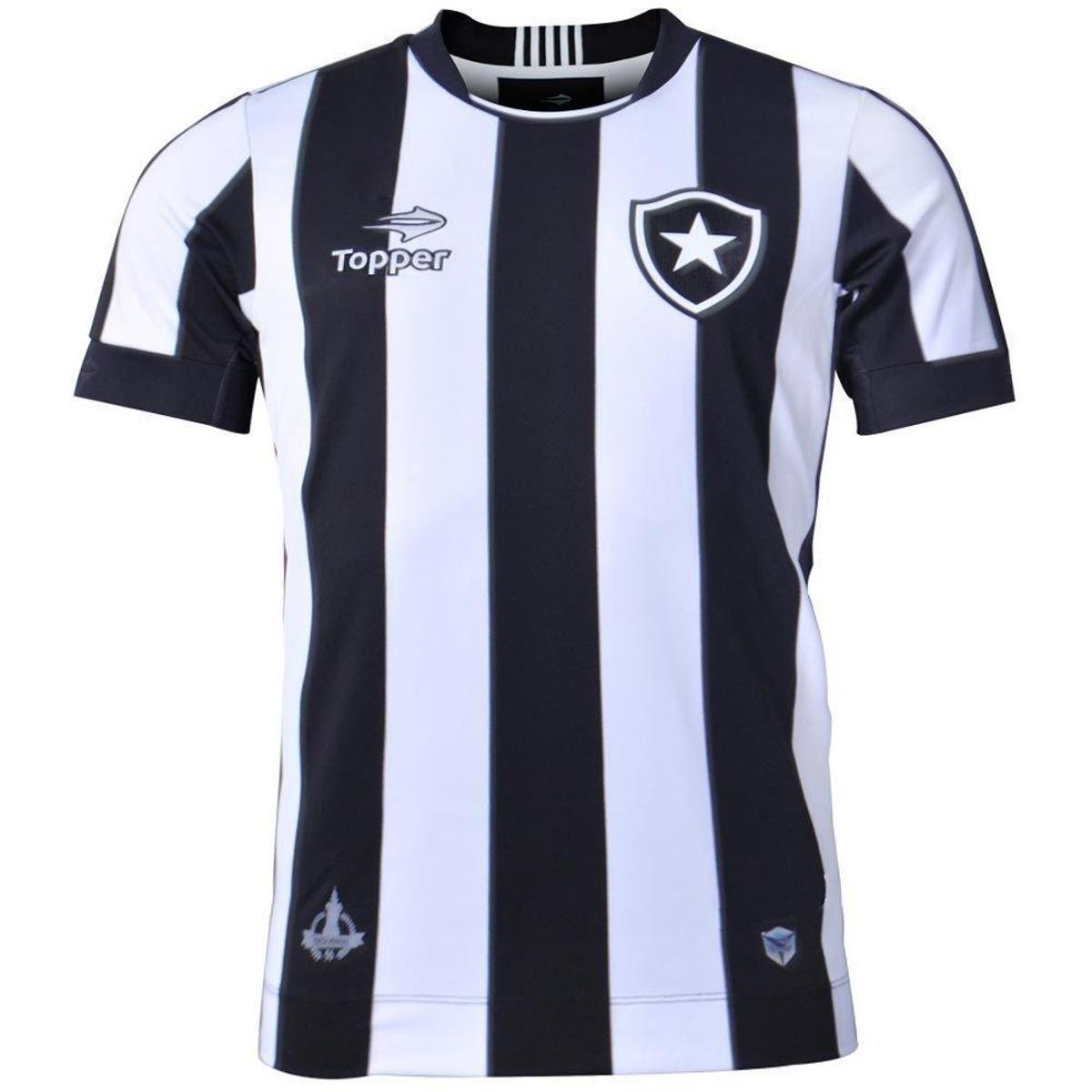 f00e406110 Camisa Botafogo Jogo I 2016 Topper Masculina - Compre Agora