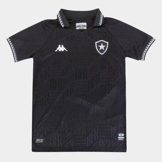 Camisa Botafogo Juvenil II 21/22 s/n° Torcedor Kappa