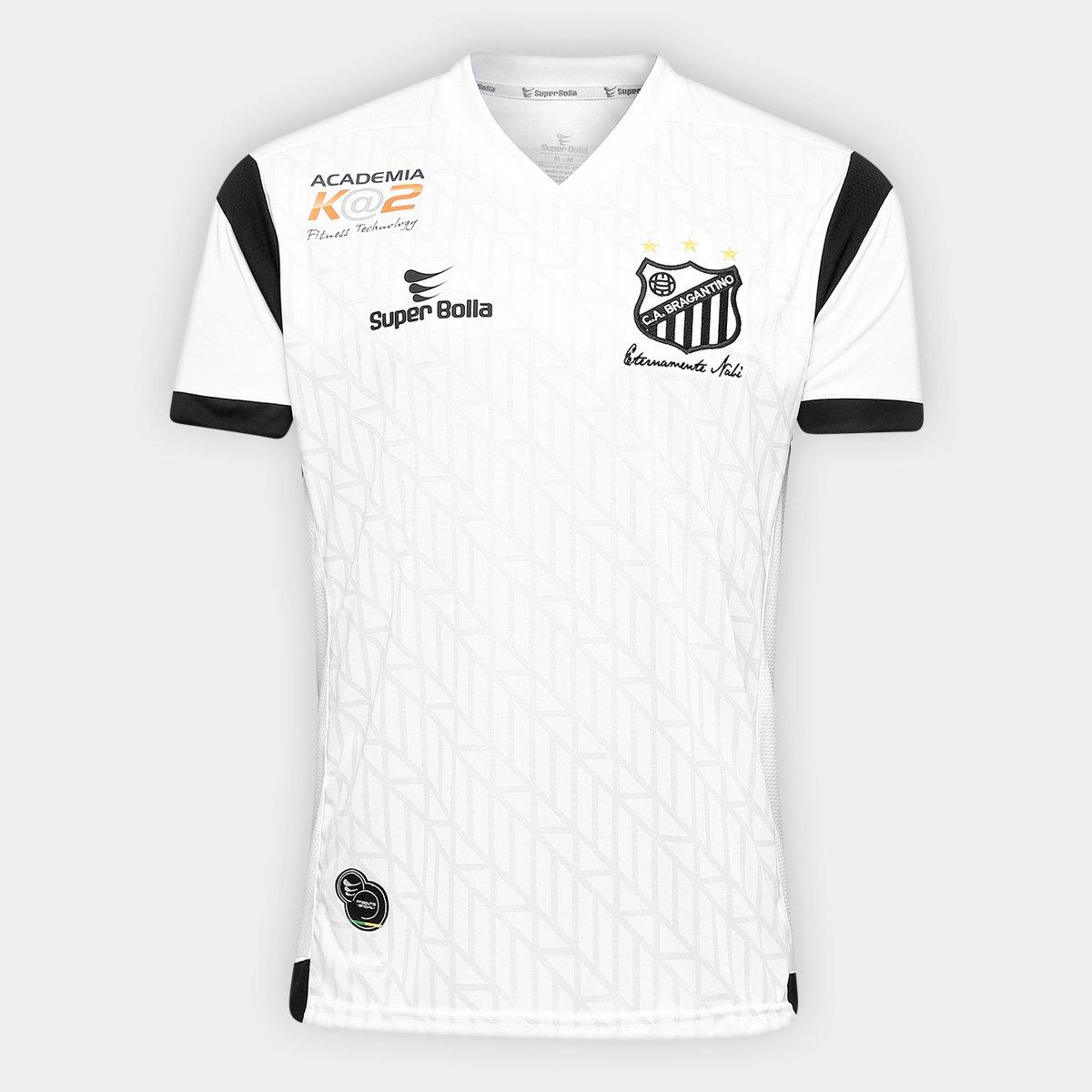 97d7ece9a Camisa Bragantino I 17 18 s nº Torcedor Super Bolla Masculina