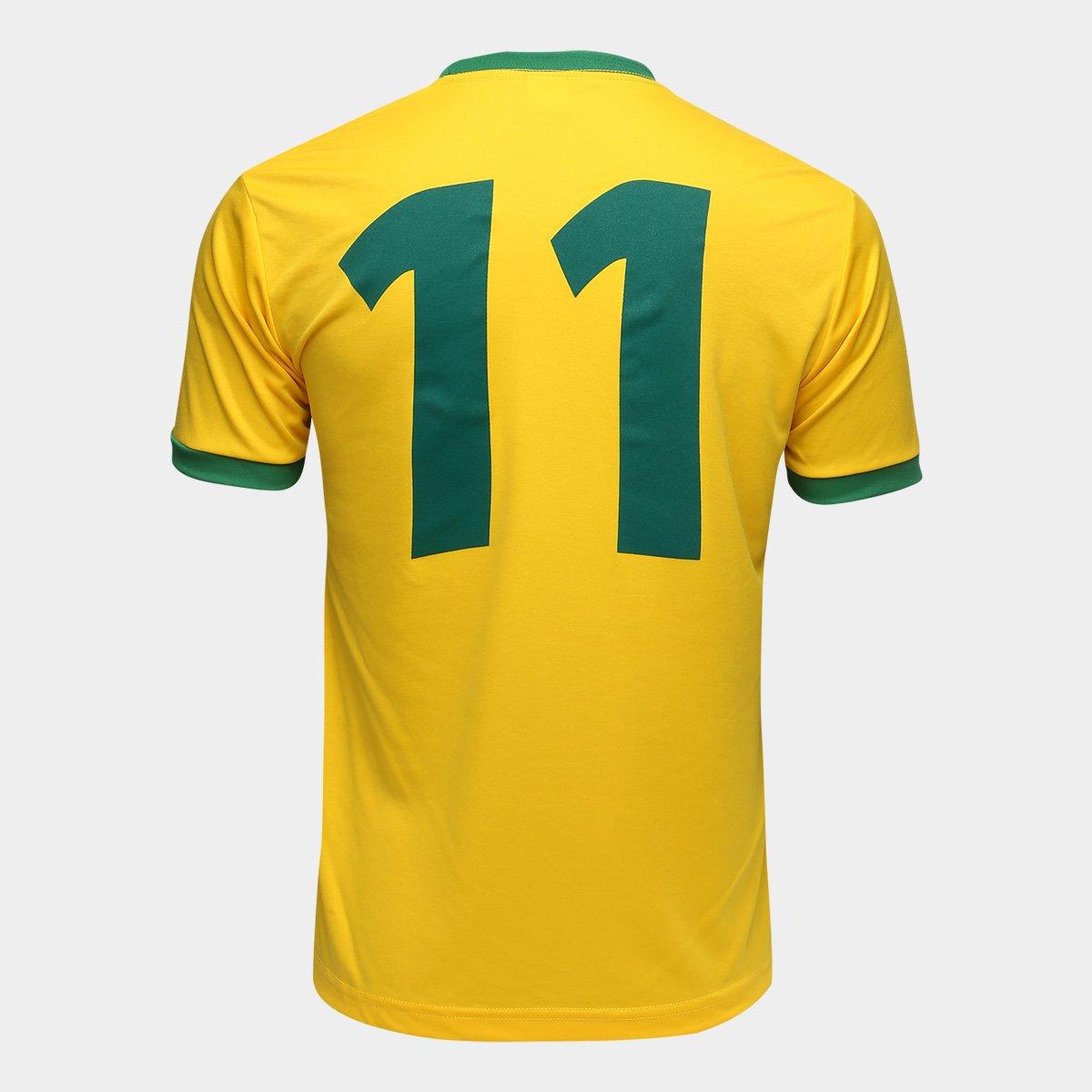 bbfa4251cf Camisa Brasil 1994 n° 11 Lotto Masculina - Amarelo e Verde - Compre ...