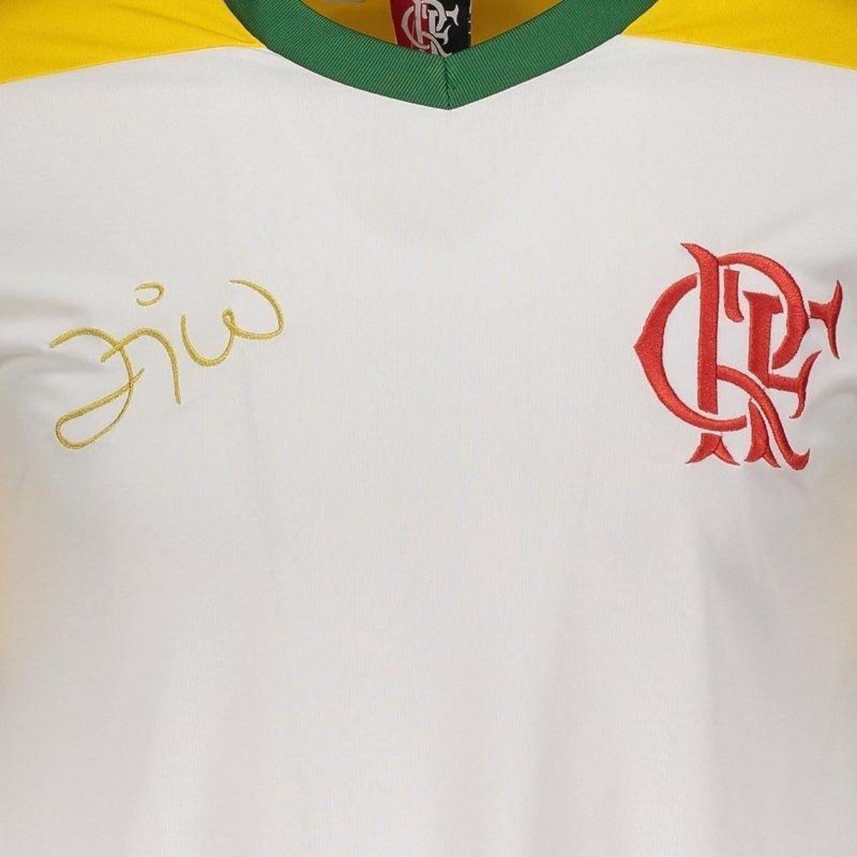 Camisa Brasil Flamengo Zico Retrô Masculina - Branco - Compre Agora ... 8eb04880dcf00