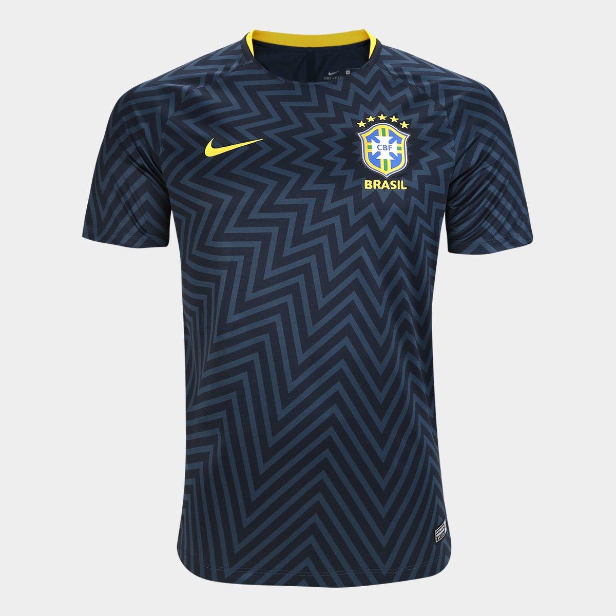 d7e3696729 Camisa Brasil Pré-Jogo Dry Nike Masculina - Compre Agora