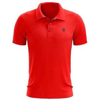 Camisa Braziline Comfy Polo Flamengo - Vermelho