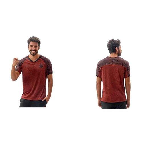 Camisa Braziline Flamengo Gloam Masculina - Vermelho+Preto