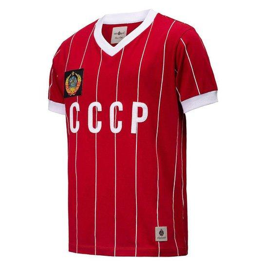 Camisa CCCP Retrô 1982 União Soviética Masculina - Vermelho