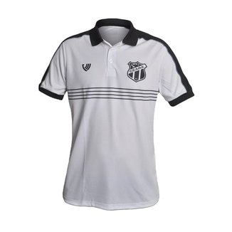 Camisa Ceará 2021 Vozão Polo Oficial Torcedor Branca