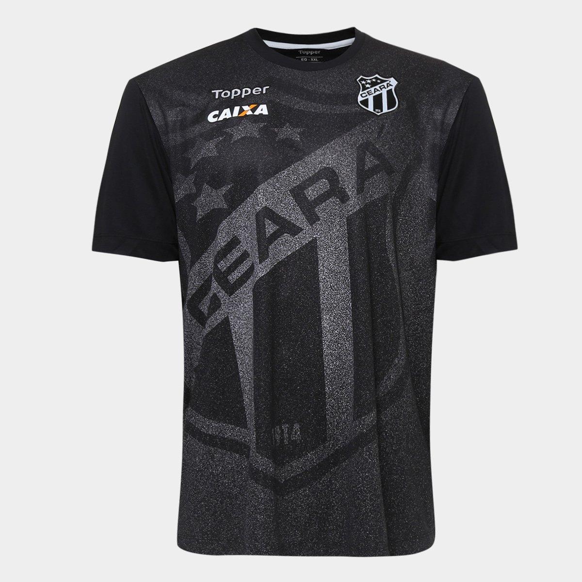 e05d769377b8c Camisa Ceará Aquecimento 2018 Topper Masculina - Preto - Compre Agora