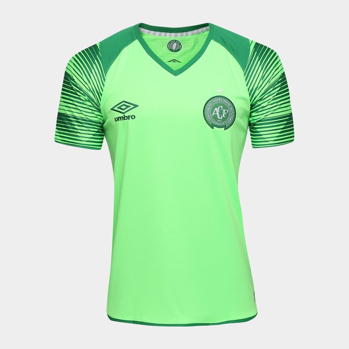 461a6e978a0a6 Camisa Chapecoense Goleiro 17 18 nº 1 Torcedor Umbro Masculina - Verde  claro - Compre Agora