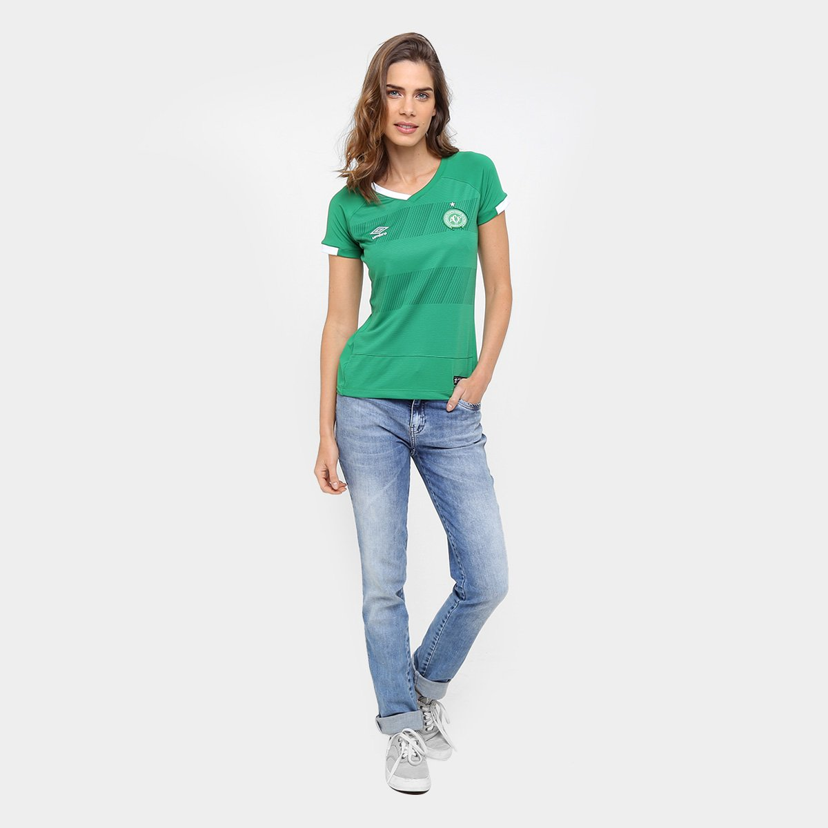 16 Chapecoense Camisa Torcedor 17 Verde I nº Umbro s Feminina ycCa6yR1