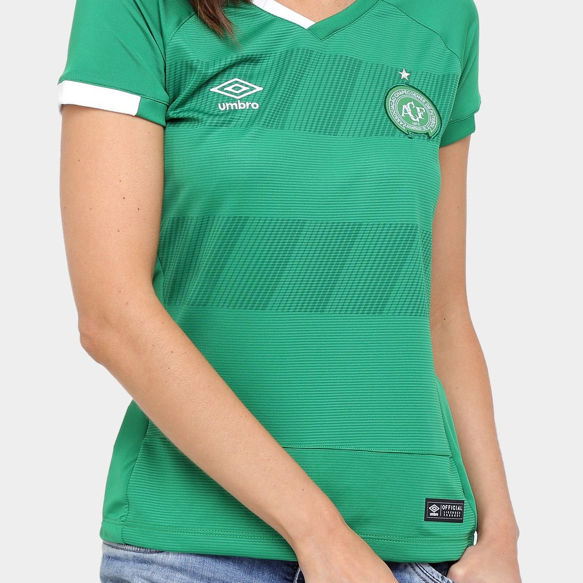 Chapecoense 16 17 Torcedor nº Camisa s Umbro Verde Feminina I RTBWqd