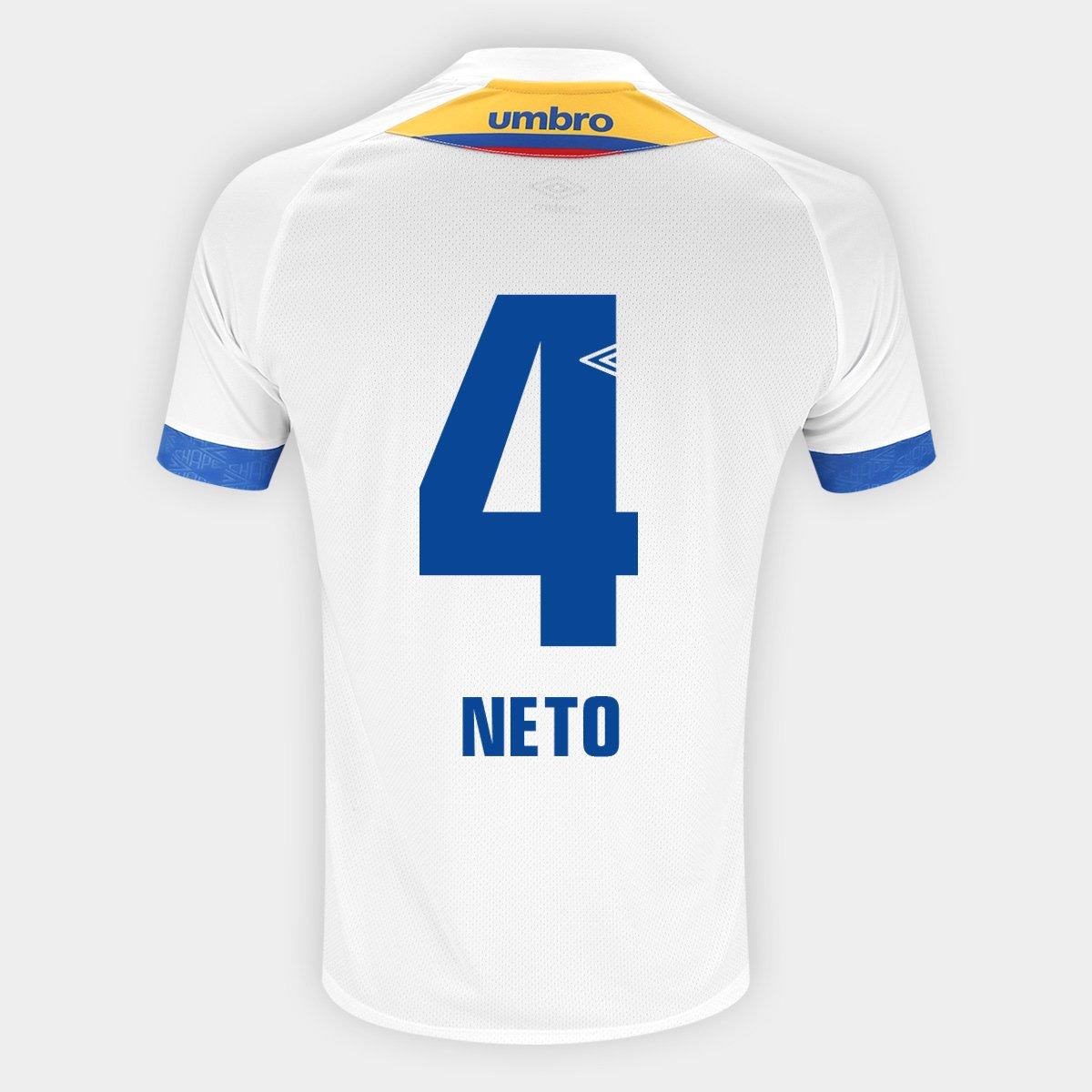 0dd41da5f9 Camisa Chapecoense II 2018 N° 4 Neto - Torcedor Umbro Masculina - Compre  Agora