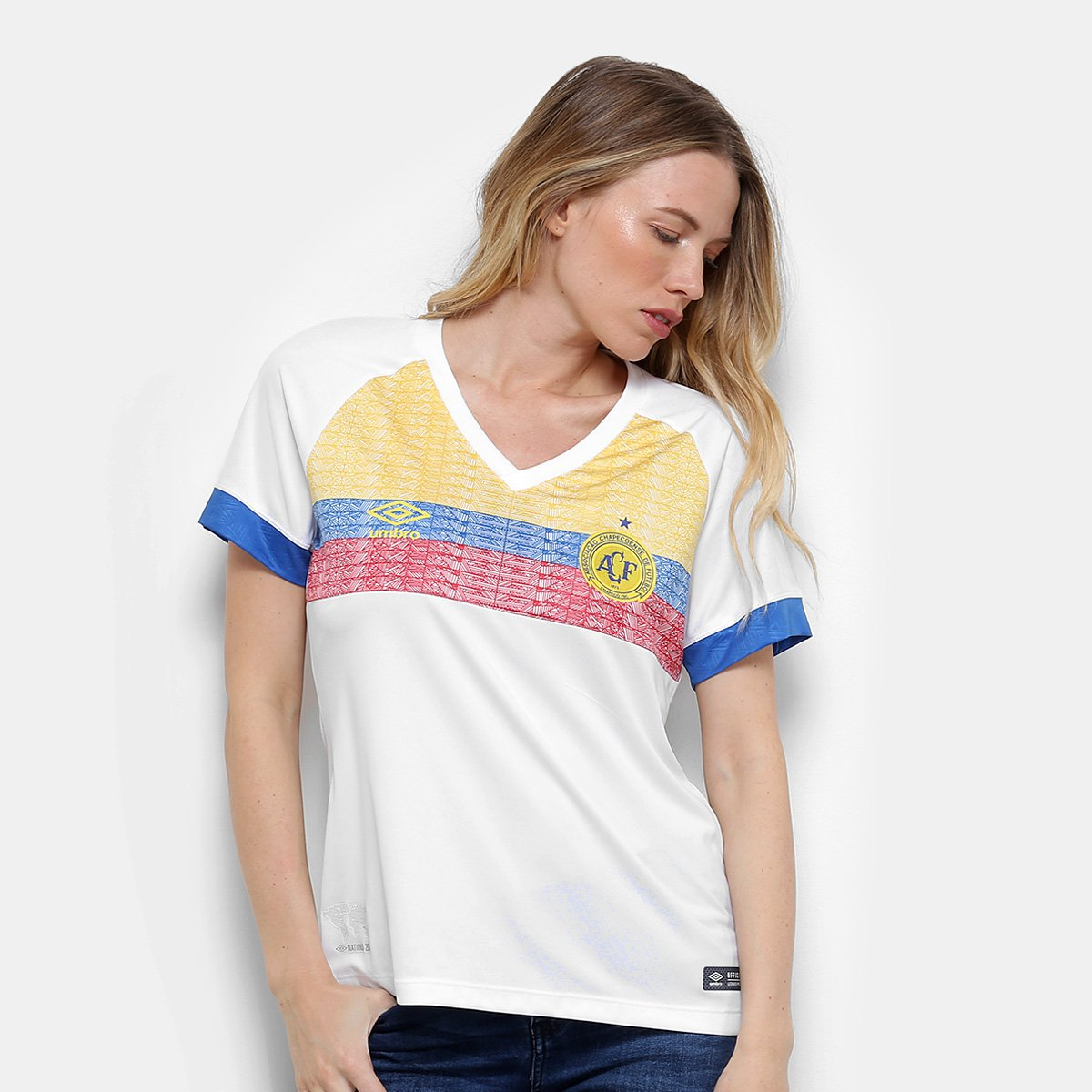 2018 s Feminina II Chapecoense Umbro Azul Pasion Branco e Camisa La n° Torcedor qEtacng1