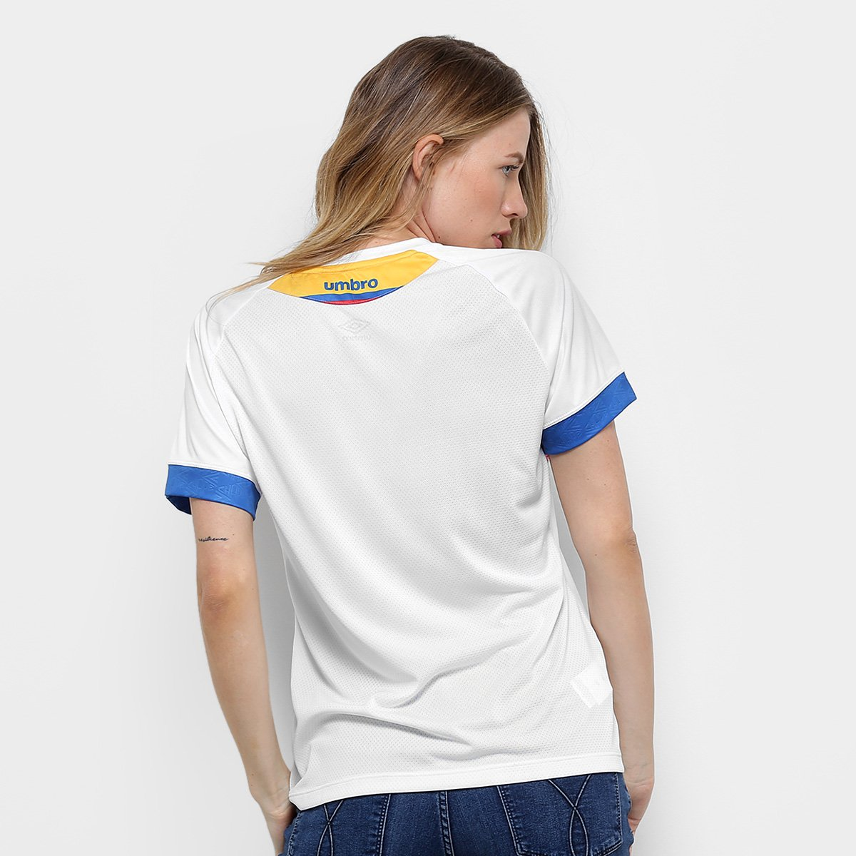 Azul e La Chapecoense s Pasion Feminina Torcedor n° Branco Camisa 2018 II Umbro P7qwXpXg