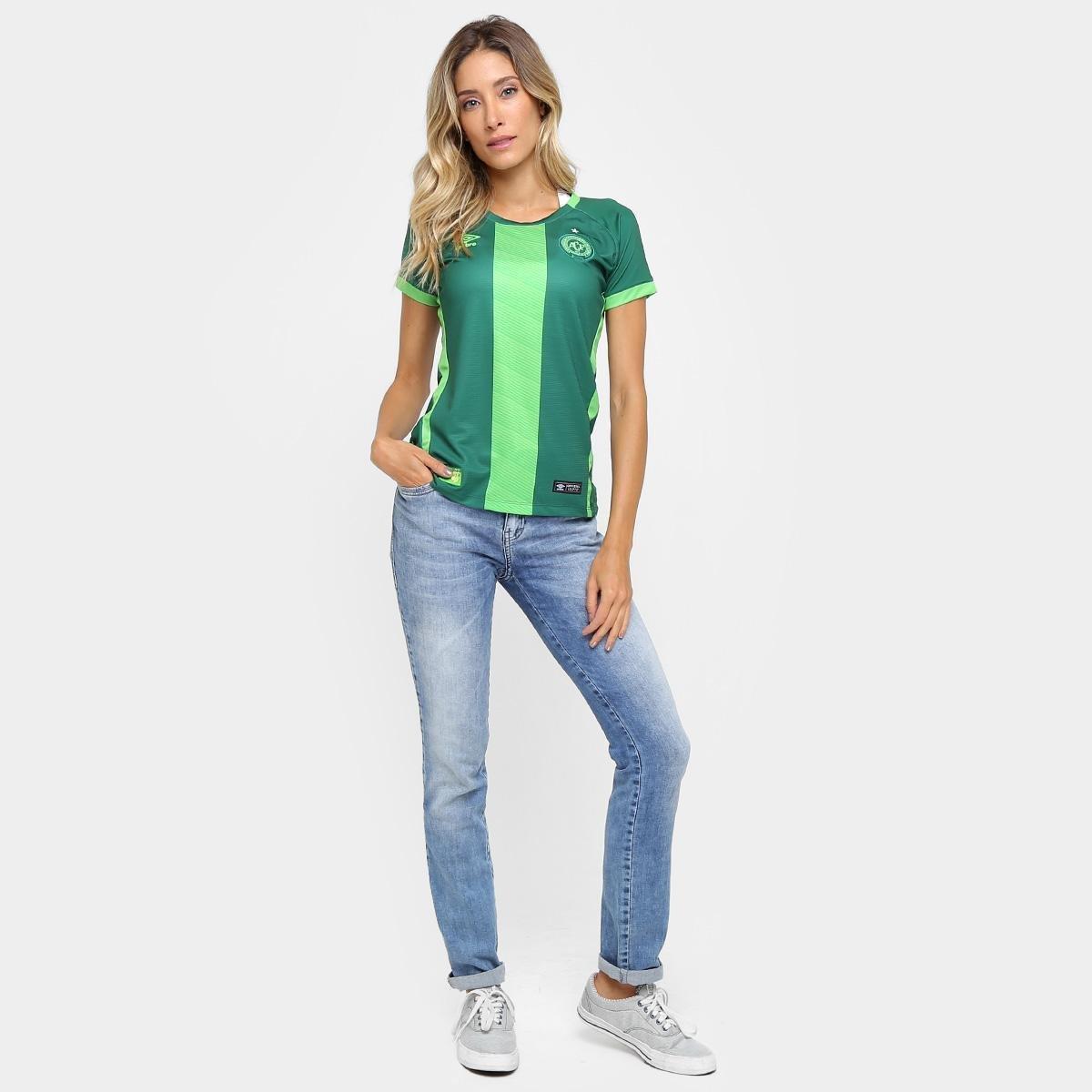 Feminina Chapecoense 16 Torcedor s III Camisa nº Umbro Verde 17 1UBABZx