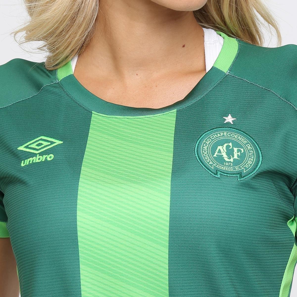 Verde Umbro s III 16 Feminina Torcedor Chapecoense nº 17 Camisa gwzqnxR0Hx