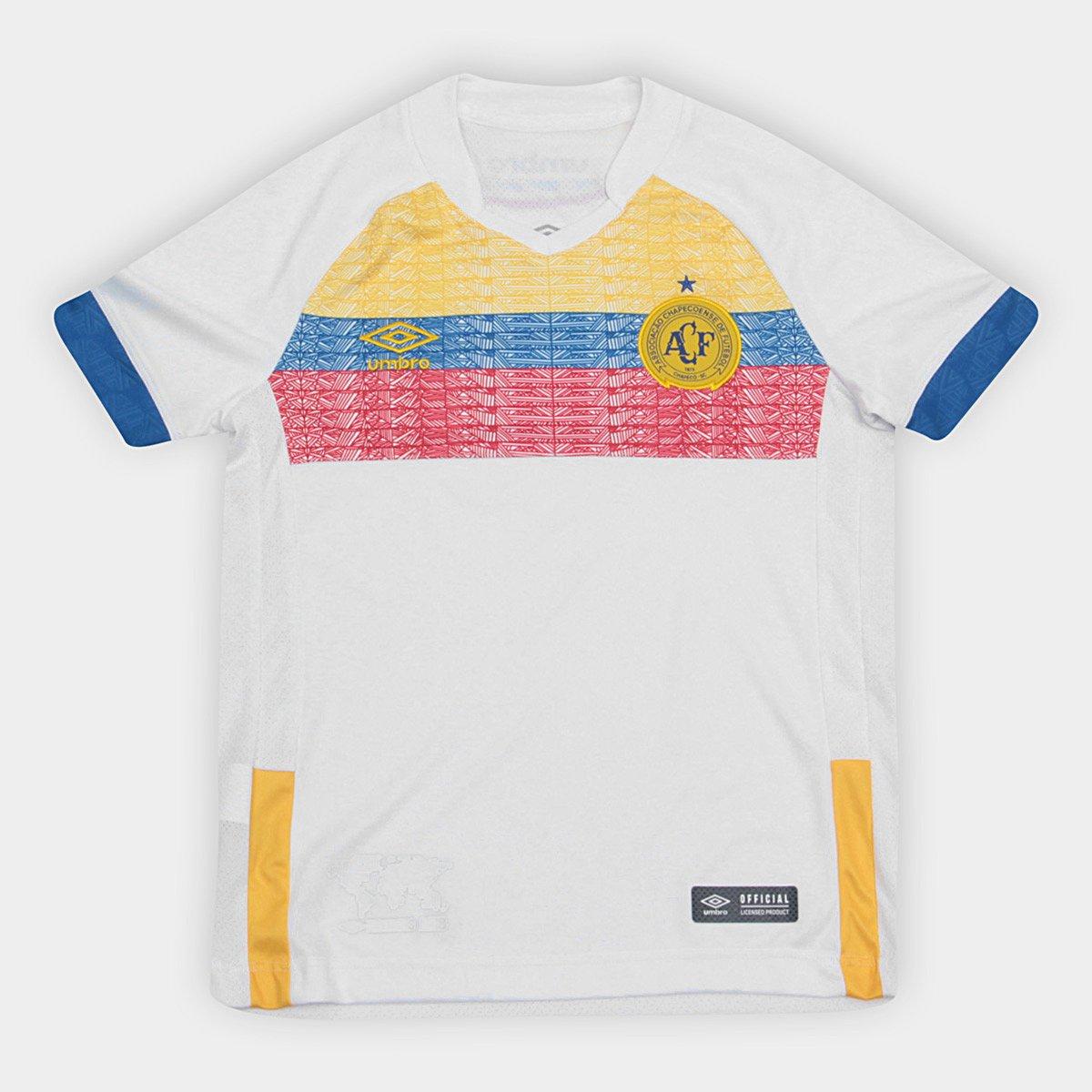 La Camisa n° Branco Infantil Pasion 2018 II e Torcedor Chapecoense Umbro Azul s OTYOxwZr
