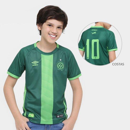 Camisa Chapecoense Juvenil III 16/17 nº10 Torcedor Umbro Masculino  - Verde