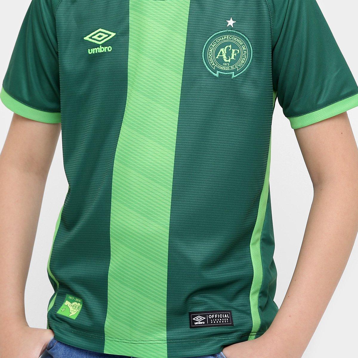 Torcedor Umbro III 17 Masculino Juvenil nº10 Chapecoense Verde Camisa 16 Enwqx04YI6