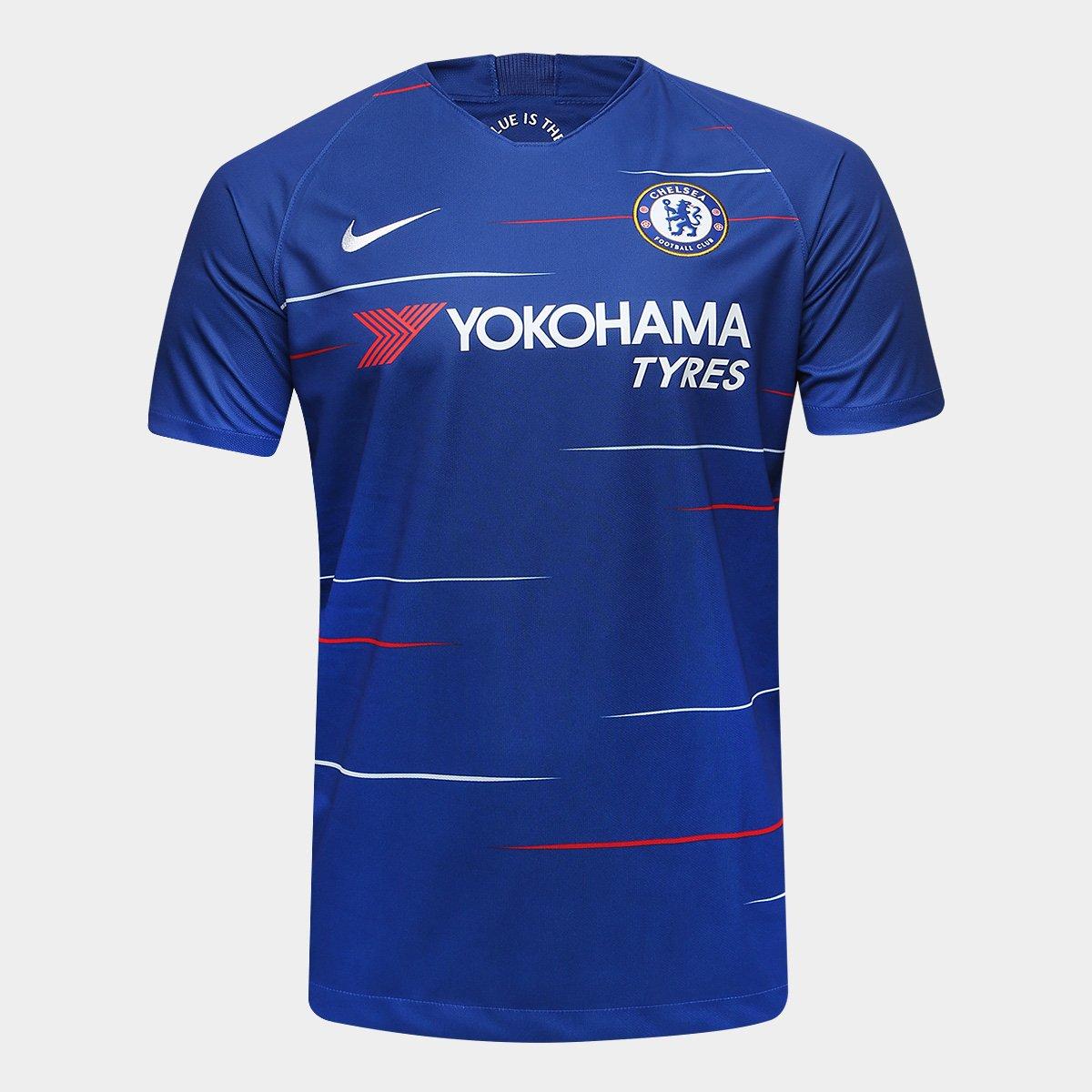 c892beb1e4446 Camisa Chelsea Home 18 19 s n° Torcedor Nike Masculina - Azul - Compre  Agora