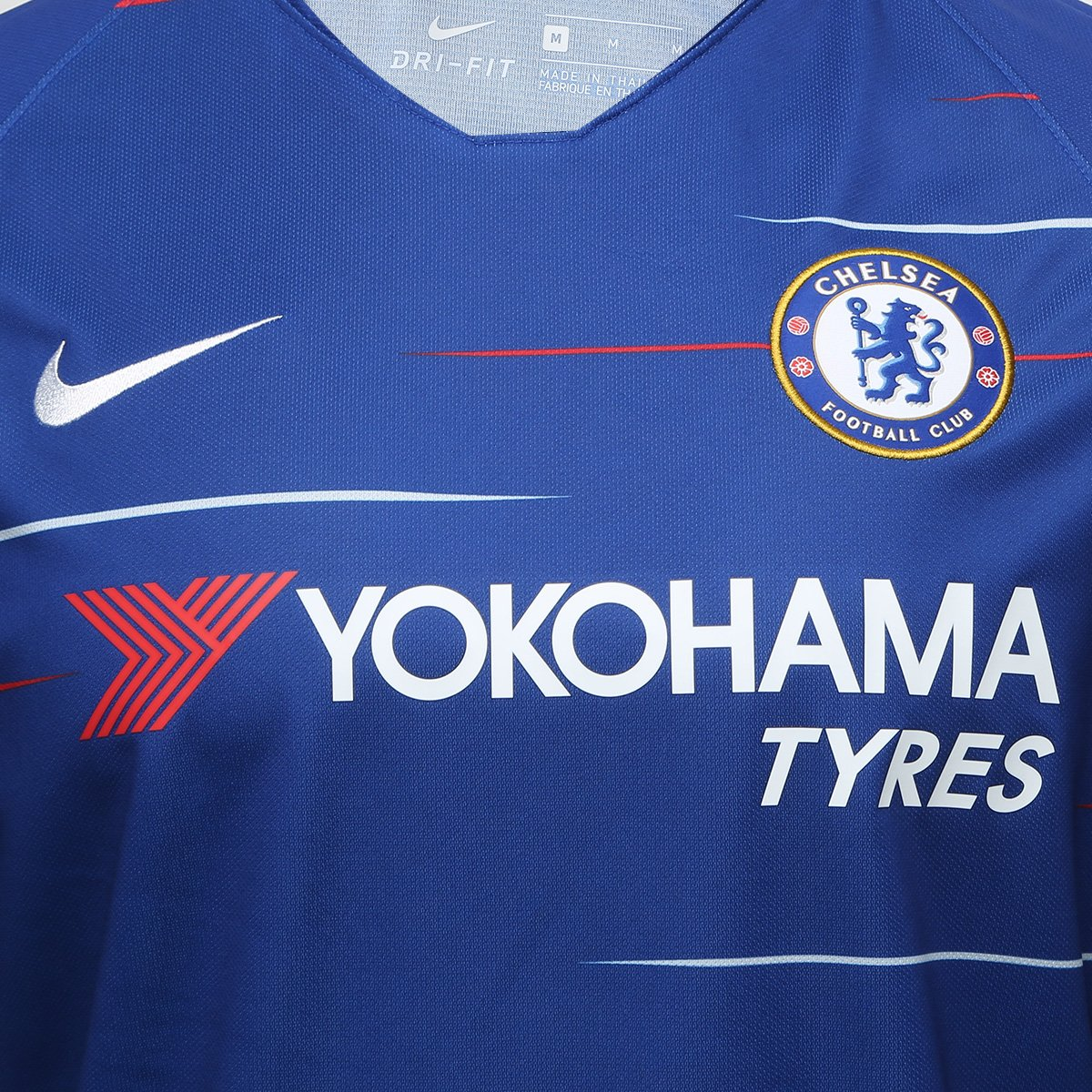 Camisa Chelsea Home 18 19 s n° Torcedor Nike Masculina - Azul ... 92ab4b5f00c1f
