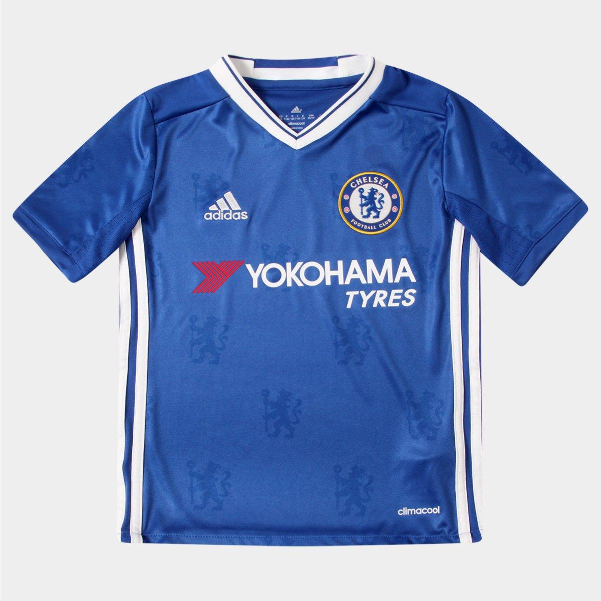 7363369453 Camisa Chelsea Infantil Home 16 17 s nº Torcedor Adidas - Compre Agora