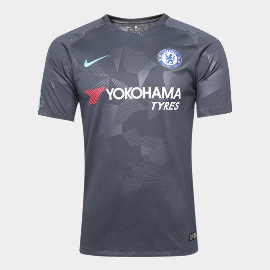 Camisa Chelsea Third 17/18 s/n° - Torcedor Nike Masculina - Cinza