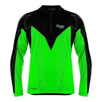 Camisa Ciclismo Bike Mtb Classic Sports Max Dri Manga Longa-Upf 30
