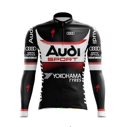 Camisa Ciclismo Bike Mtb Manga Longa Pro Tour Audi