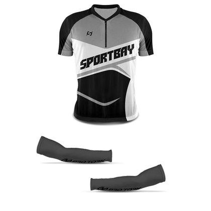Camisa Ciclismo Bike Sportbay Manga Curta + Manguito Protetor Pro Tork