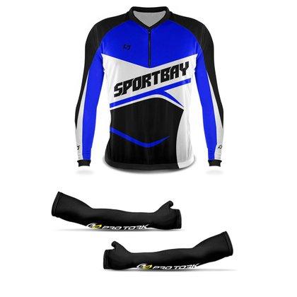 Camisa Ciclismo Bike Sportbay Manga Longa + Manguito Protetor Pro Tork