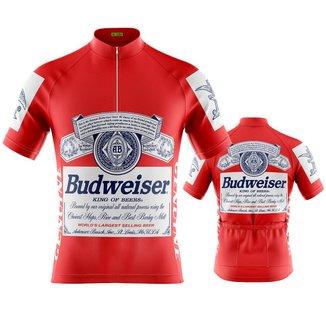 Camisa Ciclismo Masculina Manga Curta Budweiser DRY FIT proteção U V+ 50