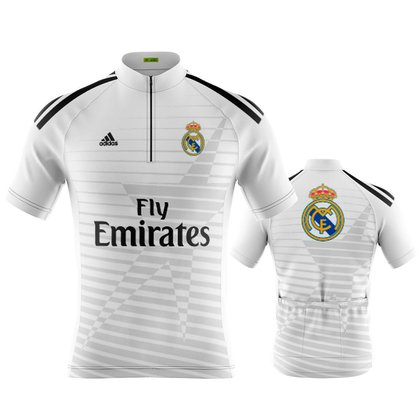 Camisa Ciclismo Masculina Manga Curta Real Madrid